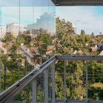 Zabudowa balkonu w systemie bezramowym